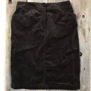 J.Crew Brown Corduroy Pencil Skirt